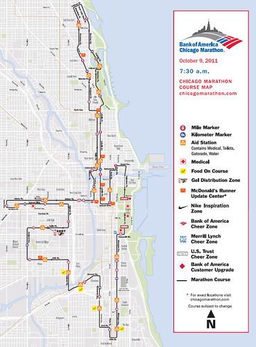 Ruta Maratón de Chicago 2011