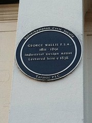 Photo of George Wallis blue plaque