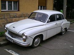 Wartburg 311 (Eddy CJ) Tags: old white classic car sedan model nikon europe good d retro east size german romania coolpix segment oldtimer medium 1956 311 shape collectable 2010 cluj napoca wartburg s200 worldcars