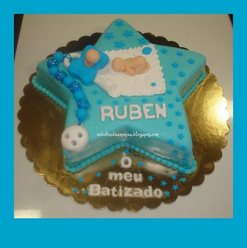 Bolo Batizado do  Ruben by Osbolosdasmanas