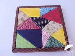 Quadro em patch embutido (Line Artesanatos) Tags: decorao patchworkembutido quadroempatchworkembutido