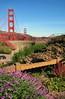 Golden Gate bridge (Mike G. K.) Tags: sanfrancisco california bridge flowers usa goldengatebridge goldengate 2007 mikegk:gettyimages=submitted