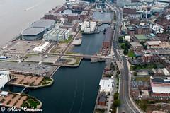 Queens Dock, Liverpool (alancookson) Tags: liverpool dock view albert echo aerial arena queens wapping