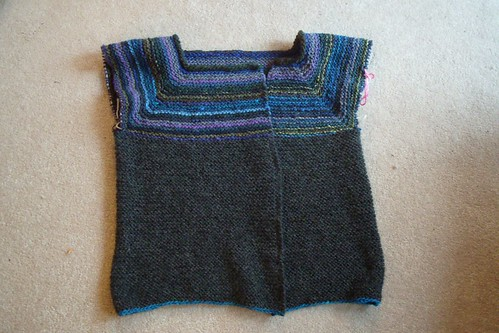 garter stitch swingy minus sleeves by gradschoolknitter