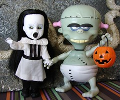 trick or treat! (Laila X) Tags: baby halloween dead toy living doll action mini frankenstein figure 1998 eleanor dreamworks livingdead