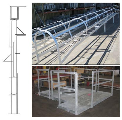 Ladders and Platforms to be installed on a 90 foot tall pressure vessel
