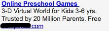 Ad #2 - Preschool Games