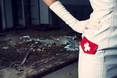 Bringer Of Disease (G i a c o m o - M a c i s) Tags: portrait fashion hospital insane crazy model decay portraiture nurse modelling nurses disease alternative siringa infermiere infermiera ricovero bringer