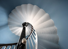 Spiral staircase, Douglas Head Lighthouse, The Isle of Man (iancowe) Tags: lighthouse spiral stair head interior architectural stevenson staircase round douglas isleofman manx northernlighthouseboard nlb lighthousetrek wbnawiman