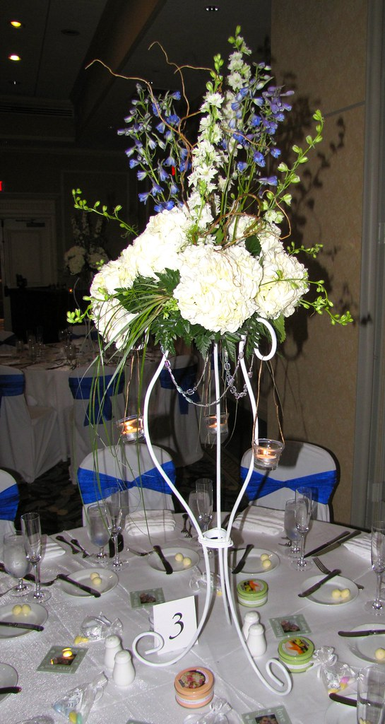 Beautiful Floral Center Piece on the reception table