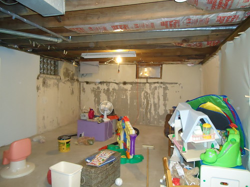 finished unfinished basement playroom crafting things new