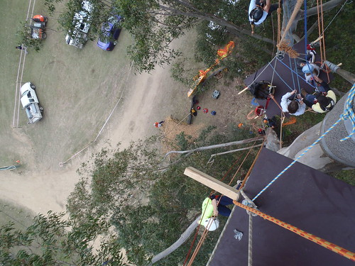 International Tree Climbing Championship - view from the top. (photos courtest of Bear LeVangie)