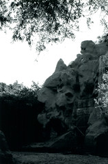 Devils Gate Ricoh500G 01 (▓▓▒▒░░) Tags: california camera classic abandoned film 35mm vintage gate dam magic devils jet rangefinder laboratory satan devil ricoh superstition jpl propulsion 500g