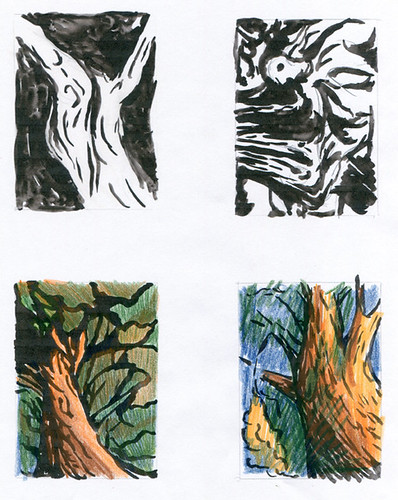 Tree sketches by Serendipity Artist