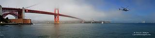 USS Carl Vinson under the Golden Gate - Fleetweek 2011