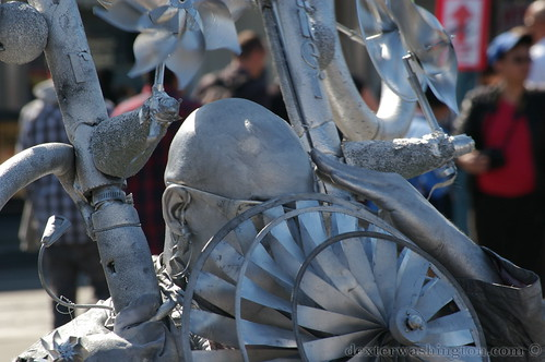 Silver Pinwheel Man