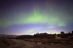 Aurora Borealis (Erik Vaet) Tags: autumn mountain holiday cabin hut greenlight auroraborealis hytte setra nordlys dancinglight fjellet canon7d