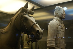 Horseman and his horse in Xi'an Terracotta Army site