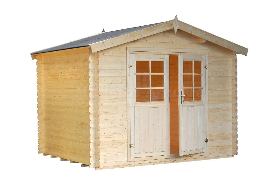Maderas aguirre mesas casetas de madera caseta de for Casetas de jardin de madera