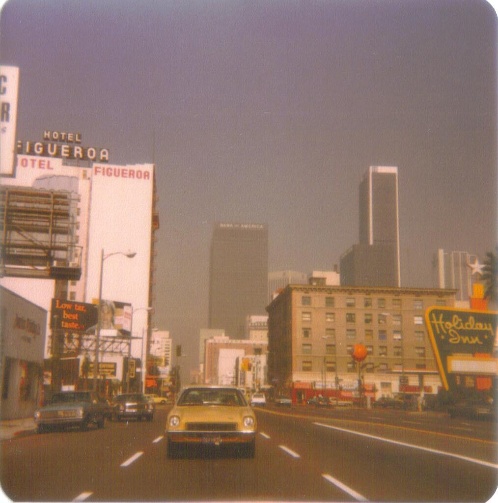 Figueroa Street, Downtown Los Angeles, 1977