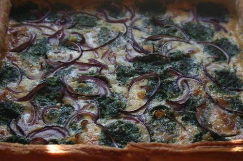 Hartige taart met spinazie en gorgonzola zelf maken