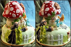 The smurfs (anna savenko (sVeshti4ka)) Tags: cake character smurfs