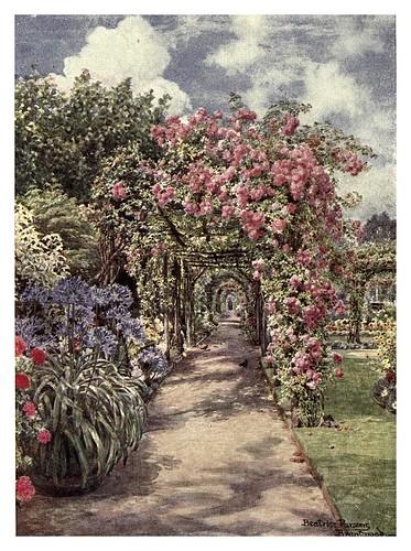 011-Una pergola en un jardin ingles-The charm of gardens 1910- Dion Clayton Calthrop