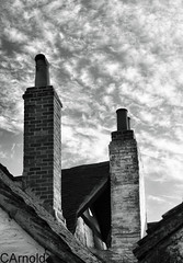 cosy (justyourcofchi) Tags: uk chimney sky urban bw white house black brick clouds model flickr photographer charlotte arnold tudor chi farnborough chiarnold justyourcupofchicom justyourcupofchi