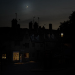 Campden Lights IV (Andrew Lockie) Tags: moon night cotswolds crescent chipping campden