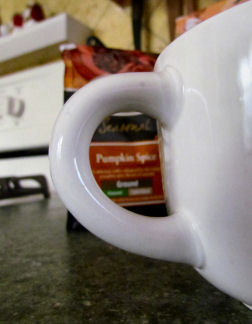 Pumpkin Coffee out of Focus