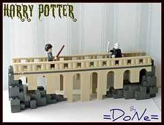 Lego HP project -module 04- (=DoNe=) Tags: bridge castle by lego tan harry potter homemade vs done hogwarts voldemort potterlego legohpproject custommadelegoharrypotterbridgelego