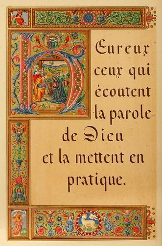 014-Versiculo biblico-Les évangiles des dimanches et fêtes de l'année –Vol 1- 1864- Leon Curmer