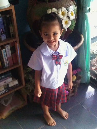 Thai Niece Nong Ja School Uniform