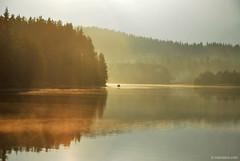 tranquility (.:: Maya ::.) Tags: sun mist mountain lake nature water boat fishing woods dam calm bulgaria    rodopi   rhodope     beglika       mayaeye mayakarkalicheva  wwwmayaeyecom