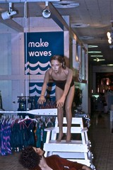 Make Waves (Wires In The Walls) Tags: ohio mannequin swimming display cincinnati slide diving departmentstore scanned swimmer 1980s swimwear bathingsuits bygone rikes shillitos