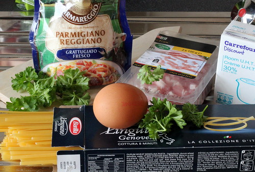 Linguine Carbonara - Ingredients