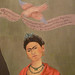 Frida Kahlo, Frieda and Diego Rivera with detail of bird and banner