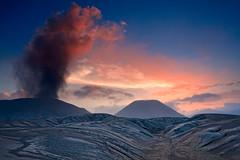 Mount Bromo Sunset (Helminadia Ranford) Tags: travel indonesia volcano smoke mount ash bromo eastjava
