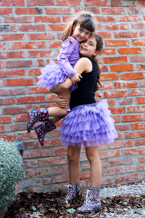 lilac tulle skirt