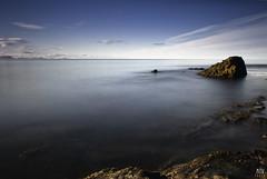 Cool blue  /  Explored (Addi Viggs) Tags: blue sea home coast rocks deep explore atlanticocean skagastrnd flickrexplore explored hnafli 10stopbwndfilter