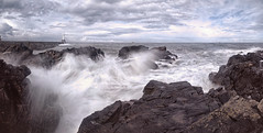 Waves (p9175448) 2/3rd sec (Mel Stephens) Tags: uk panorama seascape wall geotagged coast scotland rocks waves harbour panoramic aberdeen gps scape stitched hdr breakwater ptgui 2011
