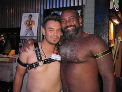 Erotic Art Show (CAHairyBear) Tags: shirtless man men leather uomo mann pistons hombre manner homme hom eroticart