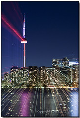 Warp Speed Tower (Lisa-S) Tags: toronto ontario canada cntower zoom lisas 50d 4124 astroprojection copyright2011lisastokes gicno