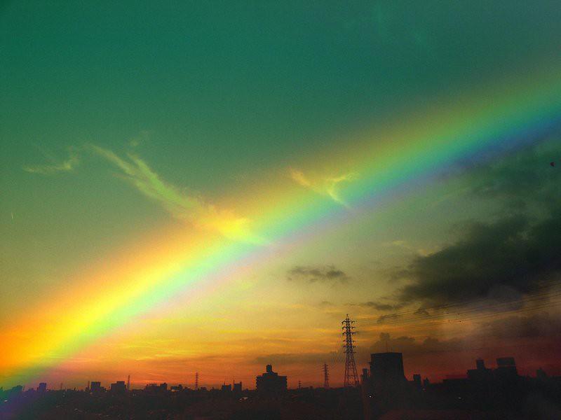 Edited Rainbow photo