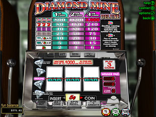 Diamond Mine Deluxe Slot Machine