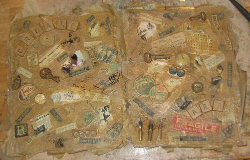 Art Journal #2 - Faux Beeswax Collage 002