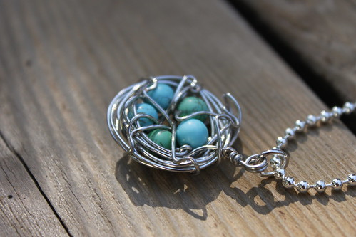 five turquoise eggs