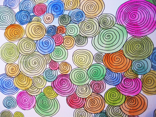 Swirls with colour
