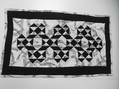 B/W Music Wall Hanging Quilt, IC38