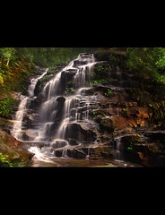 The Popular Sylvia Falls (rhyspope) Tags: longexposure light plant fern green fall wet water pool beautiful rock creek river waterfall bush woods rainforest stream australia bluemountains tourist falls wentworth nsw newsouthwales bushwalk scrub sylvia sylviafalls rhyspope